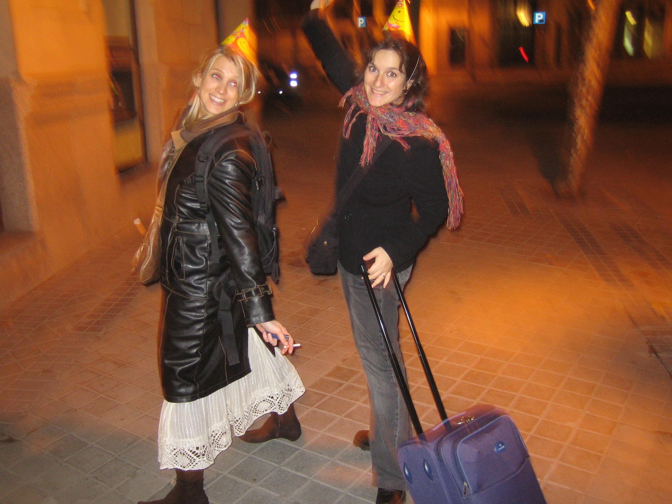 Primeira volta na quadra à meia-noite do Ano Novo em Madrid