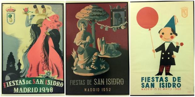 Festa de San Isidro em Madrid: cartazes antigos da Festa de San Isidro em Madrid