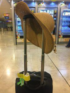 Esperando pelo vôo no aeroporto de Barajas