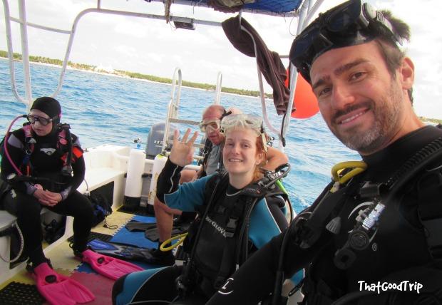 Mergulho em Cozumel, México: nosso barco a caminho da primeira parada