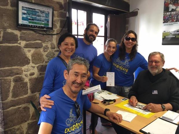 Caminho de Santiago de Compostela de Bicicleta: Primeiro carimbo em SJPP