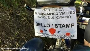 peregrino paraolímpico Caminho de Santiago