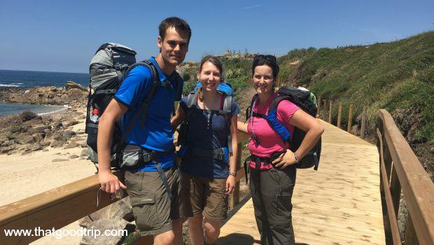 Caminho Portugues da Costa: primeiros peregrinos que encontrei, alemães