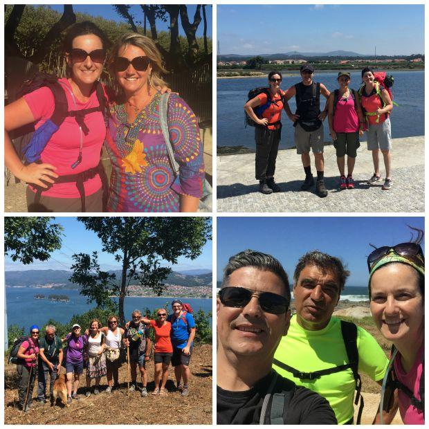 Portugueses e peregrinos