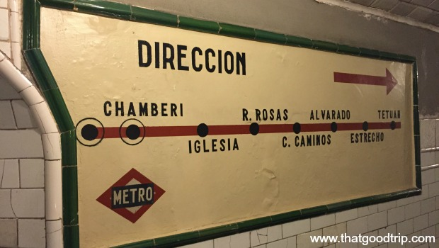 Estação fantasma metro de Madrid Chamberi