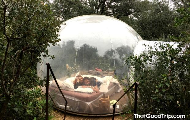 dormir em um hotel bolha na França