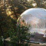 Como é dormir em uma bolha transparente?