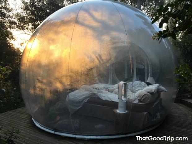 Attrap-reves: hotel bolha na França