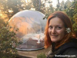 Amanhecer no hotel bolha