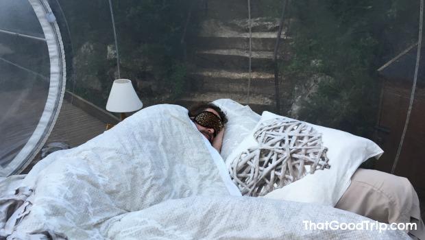 Dormir em um hotel bolha na França: uma ótima experiência