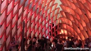 Dentro do Museu do Amanhã no Rio de Janeiro