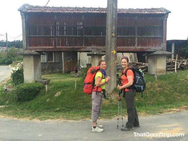 Caminho Ingles: Ana Maria e eu em um horreo