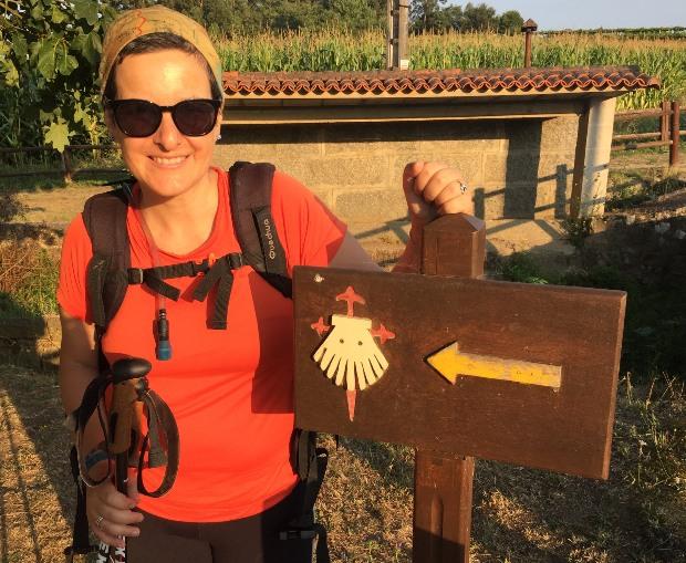 Variante espiritual do Caminho Português: marcação e flechas