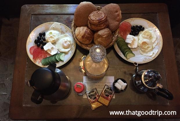 Chefchaouen: o café da manhã do hotel Chez Aziz