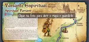 Variante Espiritual do Caminho Português: mapa da variante