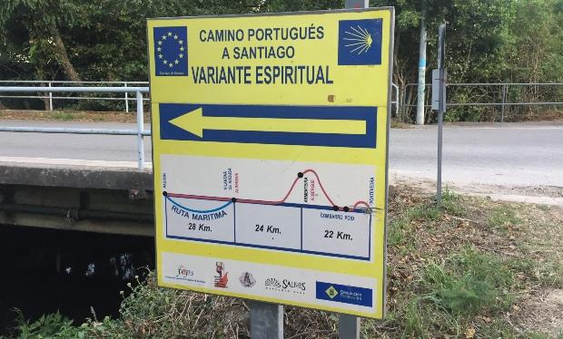 Variante Espiritual do Caminho Português: siga pelo lado esquerdo