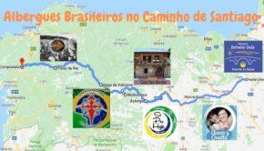 Albergues Brasileiros no Caminho de Santiago: mapa